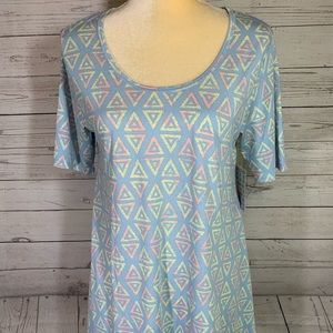 LuLaRoe Perfect Tee Pastel Multi-color Triangle